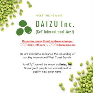 Daizu company name change announcement