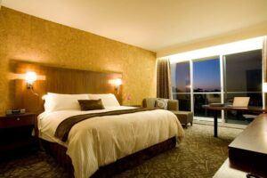 Miyako Hotel room furniture, evening