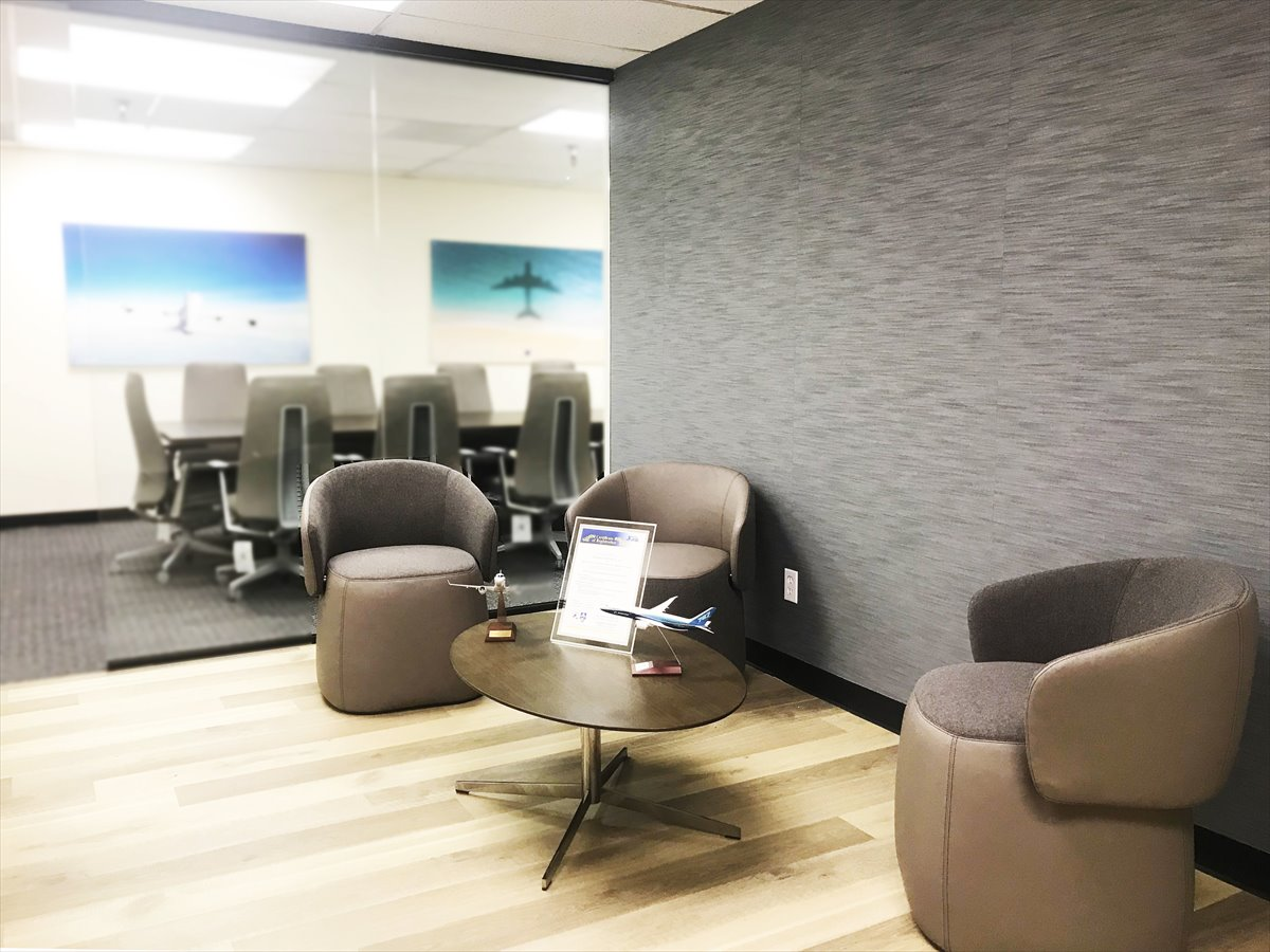 Our office design work for an airline company in Torrance CA