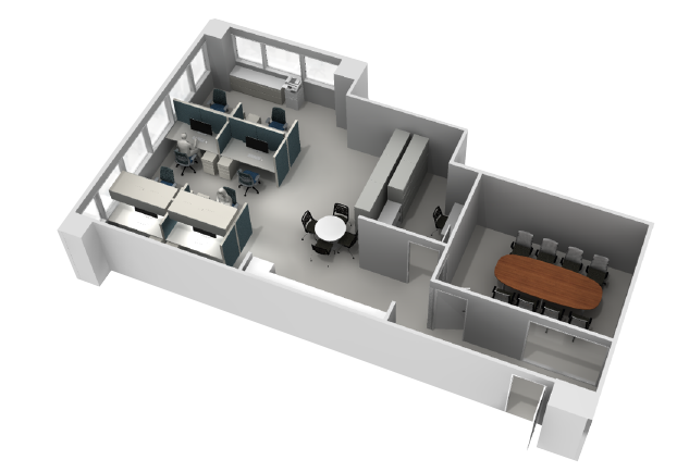 Office floor plan we worked on for a fine chemical company